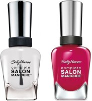 Sally Hansen Complete Salon Manicure Pack Of 2 Aria Redy-852, Clear'd For Takeoff-010(29.4 ml, Pack of 2)