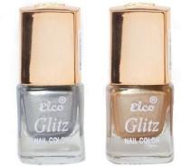 Elco Glitz Premium Nail Enamel-Pack of 2 Electric Silver, Golden Hue(12 ml) - Price 139 30 % Off