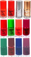 Fashion Bar FBNP Nail Polish Combo 11 Multicolor,(60 ml, Pack of 12)