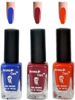 Aroma Care Blue+Orange Matte Nail Polish Combo 6-9-585 Multicolor,(29.7 ml, Pack of 3) - Price 125 68 % Off