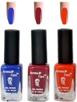 Aroma Care Blue+Orange Matte Nail Polish Combo 6-9-585 Multicolor,(29.7 ml, Pack of 3) - Price 125 68 % Off