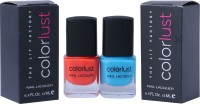 Colorlust Nailpaint Neon Blue and Neon Orange Neon Blue and Neon Orange(24 ml, Pack of 2)
