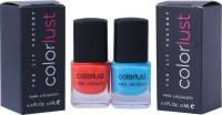 Colorlust Nailpaint Neon Blue and Neon Orange Neon Blue and Neon Orange(24 ml, Pack of 2)