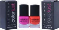 Colorlust Nailpaint Neon Pink and Neon Orange Neon Orange, Neon Pink(24 ml, Pack of 2)