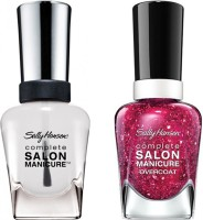 Sally Hansen Complete Salon Manicure Pack Of 2 Strawberry Shields-630, Clear'd For Takeoff-010(29.4 ml, Pack of 2)