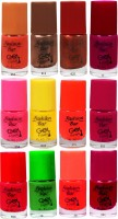 Fashion Bar Neon Nail Polish Combo 05 Multicolor(60 ml, Pack of 12)
