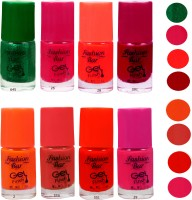 Fashion Bar Neon Combo 8 in 6 Multicolor,(Pack of 6)