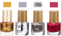 Aroma Care Speed Dry Profesional Nail Color 23531 Multicolor,(39.6 ml, Pack of 4)