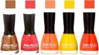 Fashion Bar Browny Gold,Pink,Peach ,Yellow ,Dark Orange Shades Nail Polish 145356 Browny Gold,Pink,Peach ,Yellow ,Dark Orange(45 ml, Pack of 5)