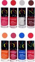 Bonjour Paris Matte Nail Polish Combo 2-9 Multicolor,(48 ml, Pack of 8)