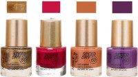 Aroma Care Speed Dry Profesional Nail Color 23548 Multicolor,(39.6 ml, Pack of 4)