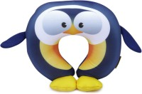 Travel Blue Penguin Fun Neck Pillow(Blue and Yellow)