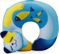 Travel Blue Cat Fun Neck Pillow(Blue and Yellow)