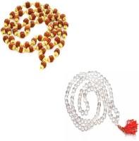 11 Girls 100% Original Nepal Rudraksha Mala in 4 mm size With Crystal Mala combo Wood, Crystal Necklace