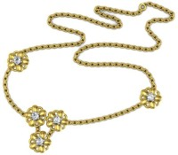 Avsar NECKLACE7A Yellow Gold Precious Necklace(18kt)