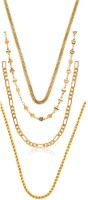 Charms Combo Of Stunning Live Yellow Gold Plated Alloy Chain