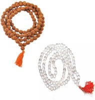 11 Girls 100% Original Nepal Rudraksha Mala with 108 Beads in 5 mm size With Crystal Mala combo Wood, Crystal Necklace