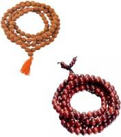 11 Girls 100% Original Nepal Rudraksha Mala with 108 Beads in 6 mm size with Lal Chandan Mala Combo of 2 Wood Necklace Set