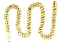 Italian Fashion golden light 22K Yellow Gold Plated Brass Chain