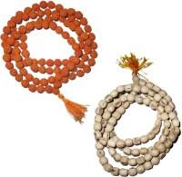 11 Girls 100% Original Nepal Rudraksha Mala With 108 Beads In 6 Mm Size With Tulsi Mala Combo Of 2 Wood Necklace Set