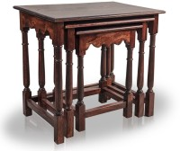 View Mart n Art Solid Wood Nesting Table(Finish Color - Mahogany Finish, Set of - 3) Furniture (Mart n Art)