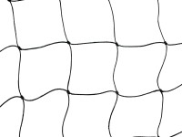 Nivia Top All Double Football Goal Net(Black)