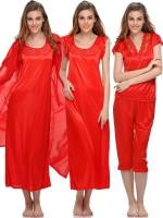 Clovia Women's Nighty(Red)