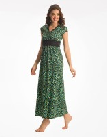 PrettySecrets Womens Long Nightdress(Green)