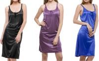 Bacchus Women's Nighty(Black, Purple, Blue)