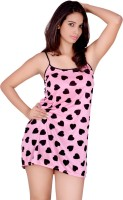 Kanika Women's Nighty(Pink)