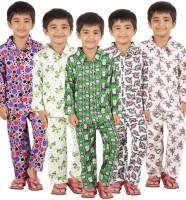Meril Kids Nightwear Boys Printed(Multicolor)
