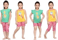 Punkster Kids Nightwear Girls Graphic Print Cotton