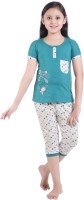 Red Ring Kids Nightwear Girls Printed Cotton