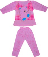 Smilee Kids Nightwear Girls Printed Cotton