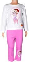 Chhota Bheem Girls Printed Multicolor Top & Pyjama Set