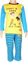 Chhota Bheem Boys Printed Multicolor Top & Pyjama Set