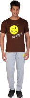 Rightshape Be Notty Mens Solid Brown Top & Pyjama Set