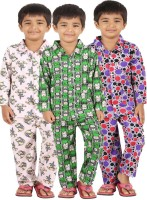 Meril Kids Nightwear Boys Printed Cotton(Multicolor)