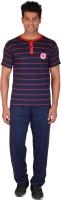 Rightshape 9026 Men's Striped Blue Top & Pyjama Set