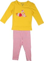 Chirpie Pie by Pantaloons Kids Nightwear Girls Solid Cotton