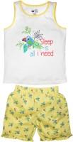 FS Mini Klub Kids Nightwear Girls Printed Cotton