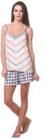 Kotty Women's Printed Multicolor Top & Shorts Set