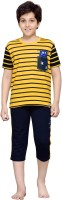 Punkster Kids Nightwear Boys Striped Cotton