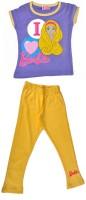 Barbie Kids Nightwear Girls Self Design Cotton