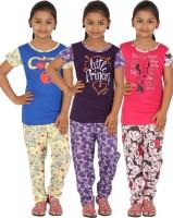 Meril Kids Nightwear Girls Printed Cotton