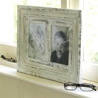 Wood Dekor Photo Frame(White, 2 Photos)