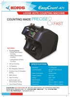 Kores Easycount 471 Note Counting Machine(Counting Speed - 1200 notes/min)
