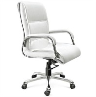 View Woodstock India Leatherette Office Arm Chair(White, White) Price Online(Woodstock India)