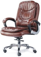 View Adiko Leatherette Office Arm Chair(Brown) Furniture (Adiko)
