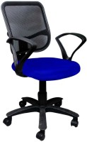 View Mavi Fabric Office Arm Chair(Blue) Price Online(Mavi)